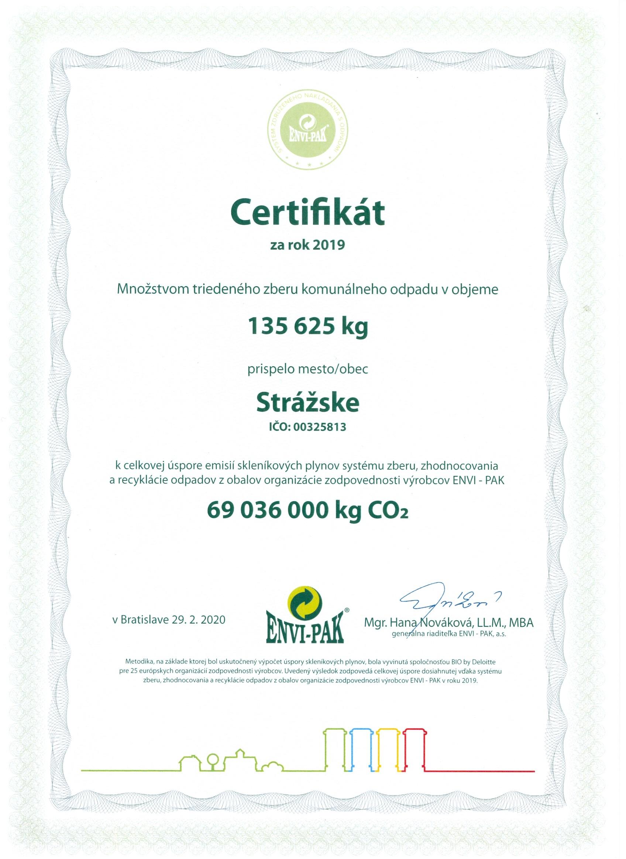 certifikát ENVI-PAK
